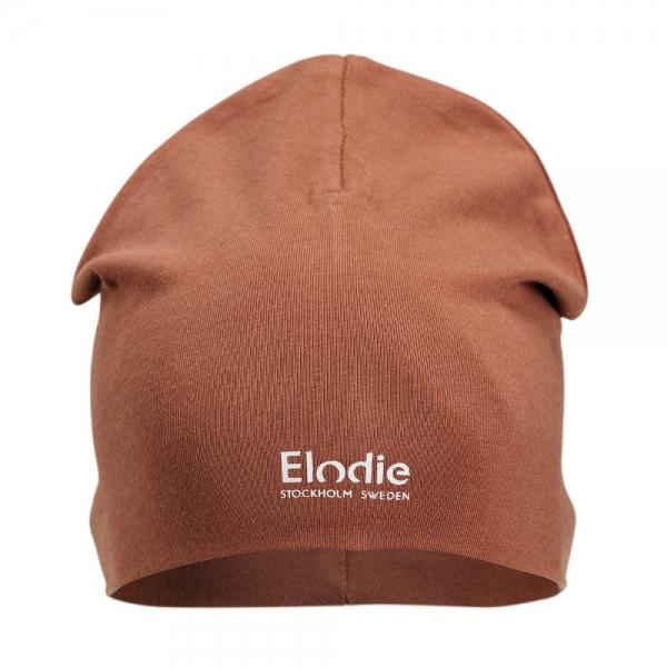 Elodie Logo Beanie Burned Clay, 48-50 cm, 1-2y