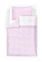 TRÄUMELAND Bettwäsche Krone rosa 100x135/40x60 cm