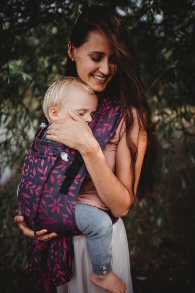 LIMAS Babytrage Plus Flora Poppy Pink