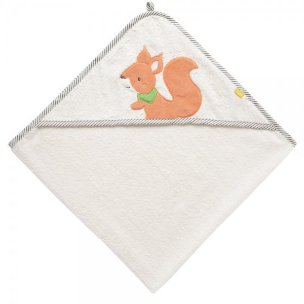 Fehn Kapuzenbadetuch Eichhörnchen Sunshine