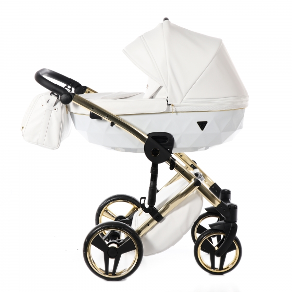 JUNAMA Kombi Kinderwagen Individual 04 - weiß/gold