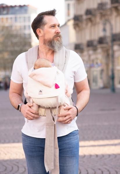 LIMAS Babytrage Natur/Beige I Wendetrage