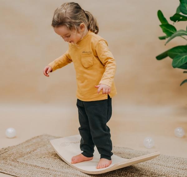 MeowBaby Balance Board 64x30 cm aus Holz Junior