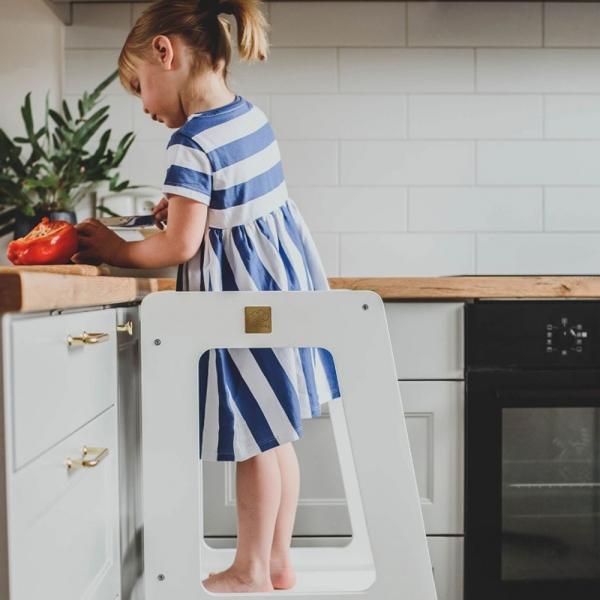 MeowBaby Lernturm / Küchenhelfer für Kinder - Premium in Weiß