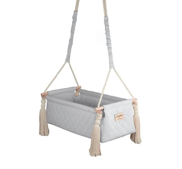 BabySteps Babywiege Newborn Velvet Swing - Gray