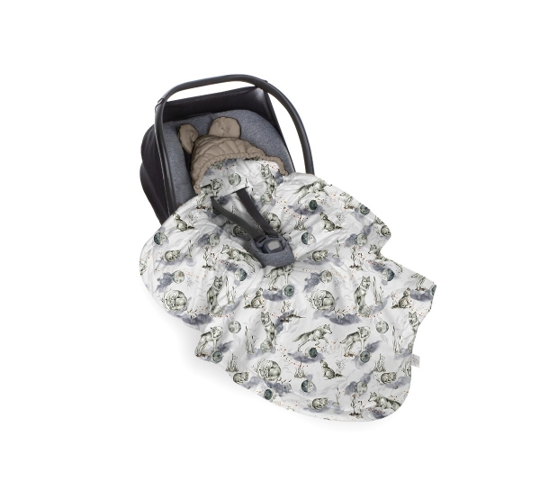 BabySteps Einschlagdecke Babyschale Wolf - Vintage Khaki