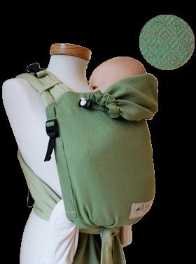 Storchenwiege Babytrage BabyCarrier grün