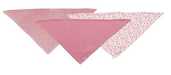 Playshoes Baby Halstuch Mädchen, pink, 60x30, 3er Pack