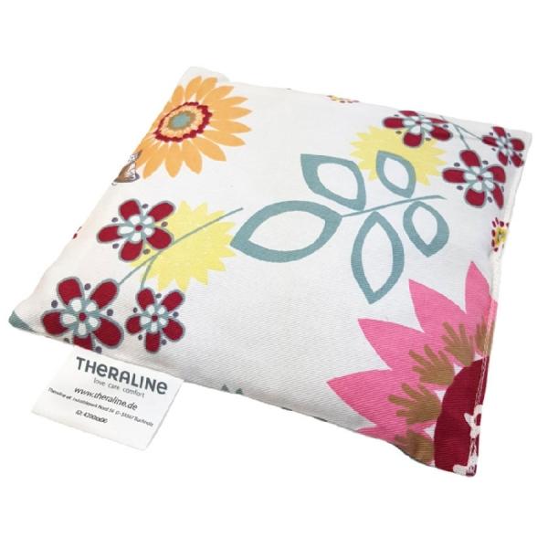 Theraline Kirschkernkissen 19x19cm Dessin 80 - Sommerblüten