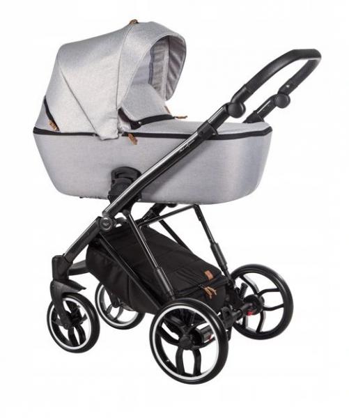 Baby Merc Kombikinderwagen La Rosa LN07 - silber-beige/schwarz