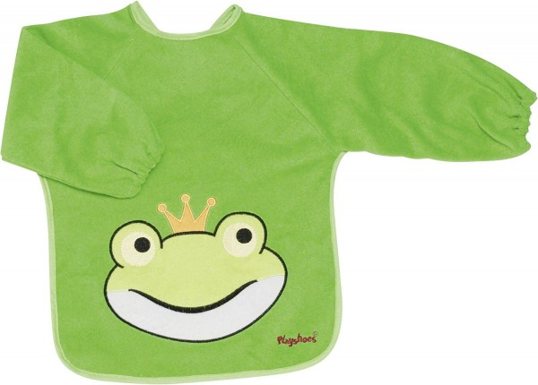 Playshoes Ärmel-Lätzchen Langarm Frosch, grün