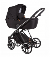 Baby Merc Kombikinderwagen La Rosa LN08 - schwarz/schwarz