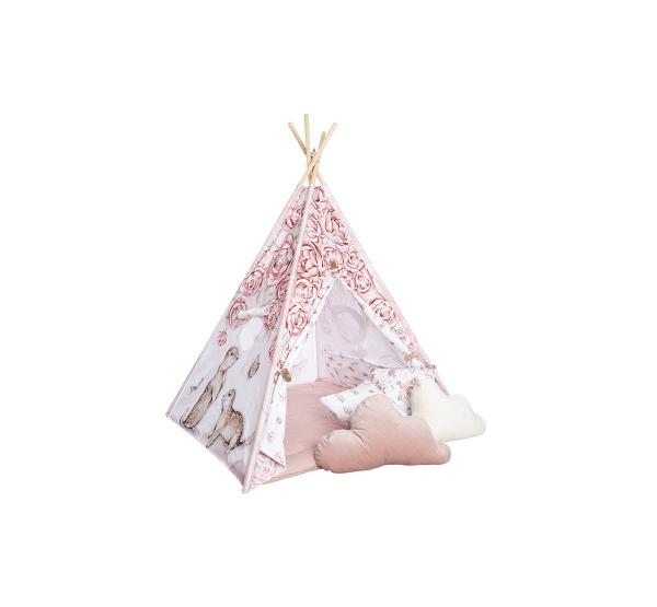 BabySteps Premium Tipi-Zelt für Kinder - Sepia Rose