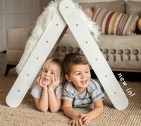 MeowBaby Montessori Holzleiter scandi für Kinder, grau
