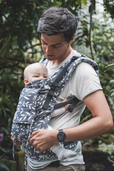 LIMAS Babytrage Flex Flora Cool Grey