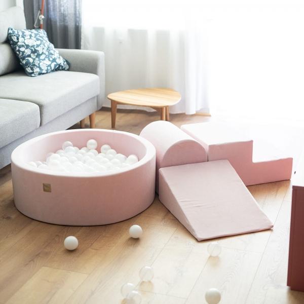 MeowBaby Schaumspielset hellrosa mit Bällebad und 200 Bälle zum selber Gestalten nach Wunsch