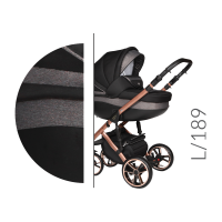 Baby Merc Kombikinderwagen 2 in 1 FASTER 3 ltd. L189 grau roségold - 10-teilig