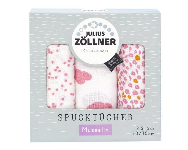 Julius Zöllner Spucktücher 3-er Pack Wolke rosa 70x70 cm