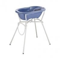 Rotho Babydesign Badewannen-Set Top cool blue, 4-tlg. mit Wannenständer