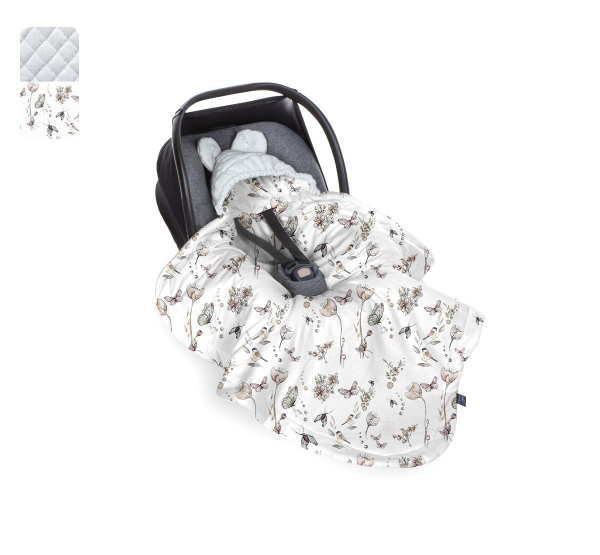 BabySteps Einschlagdecke Babyschale Natura - gray