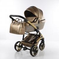 JUNAMA Kombi Kinderwagen Glitter Gold-Gold