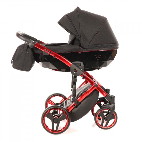 JUNAMA Kombi Kinderwagen Individual 01 - schwarz/rot