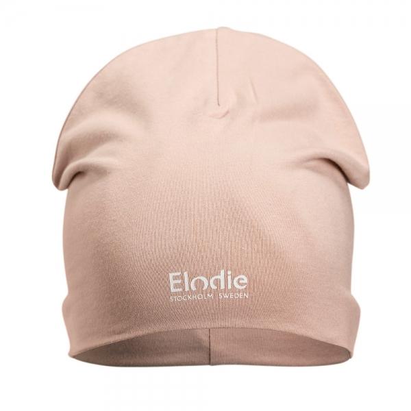 Elodie Logo Beanie Powder Pink, 48-50 cm, 1-2y