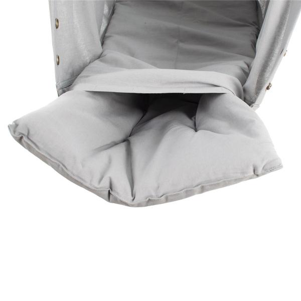 NONOMO Matratze Baby Kunstfaser für Federwiege - grau