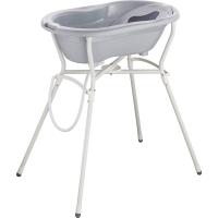 Rotho Babydesign Badewannen-Set Top stone grey, 4-tlg. mit Wannenständer
