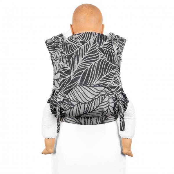 Fidella FlyClick Plus Babytrage Dancing Leaves schwarzweiß