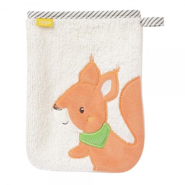 Fehn Waschhandschuh Eichhörnchen Sunshine