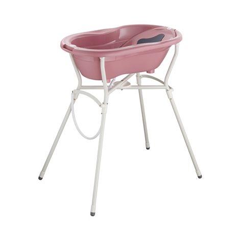 Rotho Babydesign Badewannen-Set Top fantastic mauve, 4-tlg. mit Wannenständer