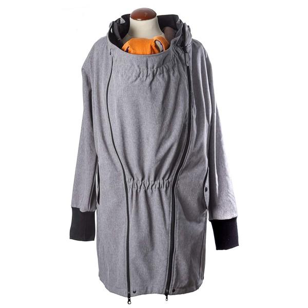 manduca Babytragejacke SoftShell Light Coat L, Heather Grey
