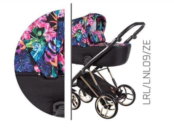 Baby Merc Kombikinderwagen La Rosa Ltd. LNL09 - flower/gold