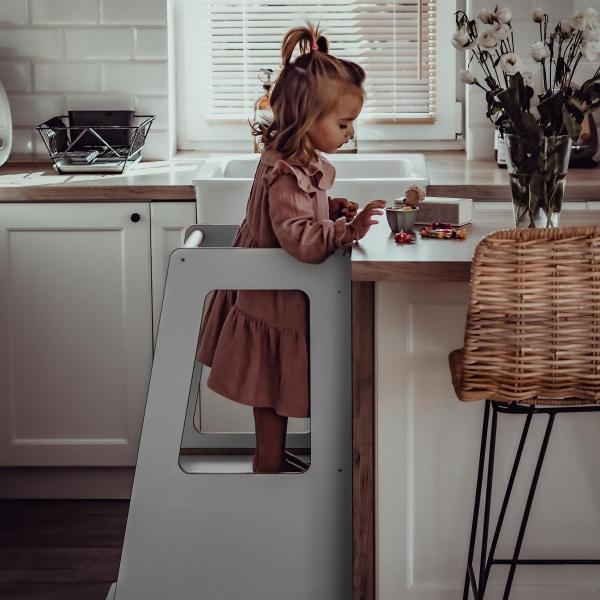 MeowBaby Lernturm / Küchenhelfer für Kinder - Scandi Grau