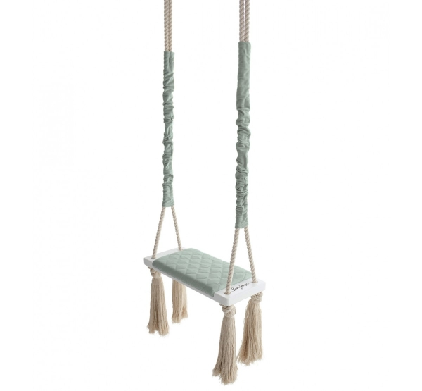 BabySteps Kinderschaukel Wood Swing - Sky Gray