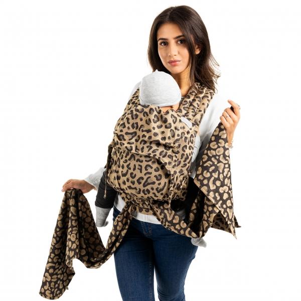 Fidella FlyClick Plus Babytrage Leopard gold