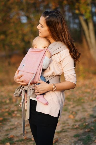 LIMAS Babytrage Rosa/Beige I Wendetrage