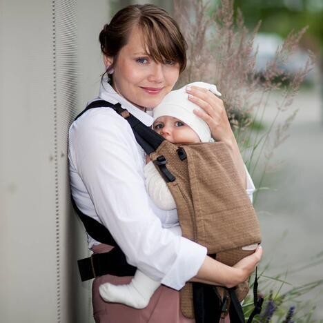 Storchenwiege Babytrage BabyCarrier café
