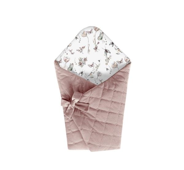 BabySteps Einschlagdecke VELVET Natur - Sepia Rose