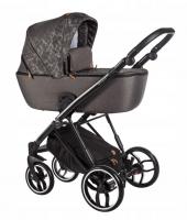 Baby Merc Kombikinderwagen La Rosa LN05 - braun meliert/schwarz