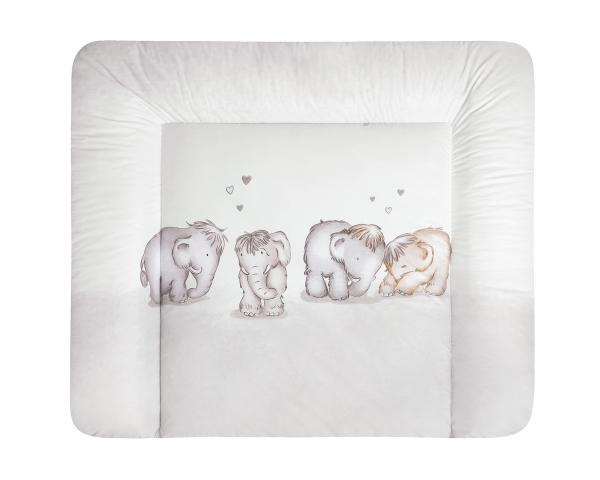 Julius Zöllner Wickelauflage Softy Mammuts in Love Gr. 75x85