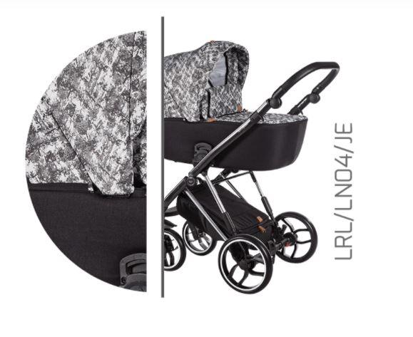 Baby Merc Kombikinderwagen La Rosa Ltd. LN04 - grau/schwarz