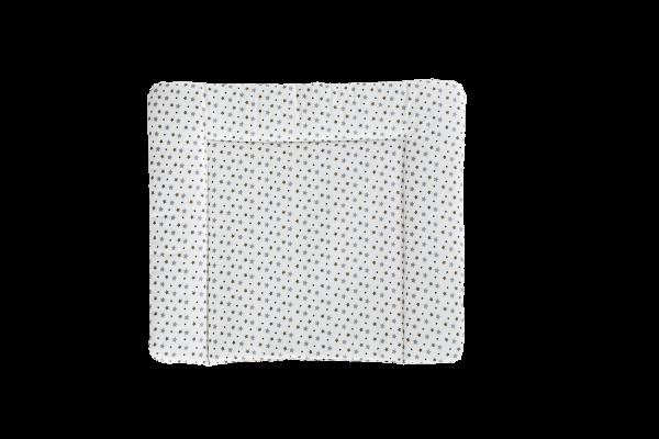 TRÄUMELAND Wickelauflage weiß mit grauen Sternen PVC-frei 75 x 85 cm