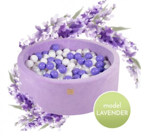 MeowBaby Bällebad 90x30cm, Lavender, 250 Bälle