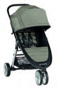 Kinderwagen Baby Jogger City Mini 2 - 3 Rad Sepia