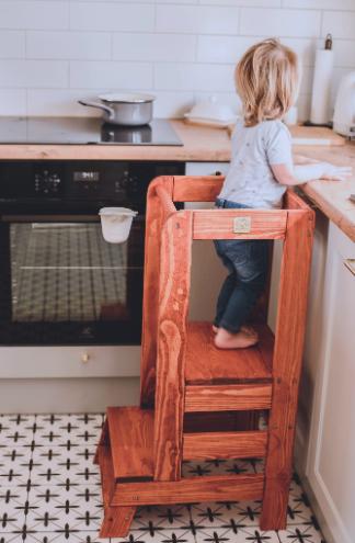 MeowBaby Lernturm / Küchenhelfer für Kinder - Teak