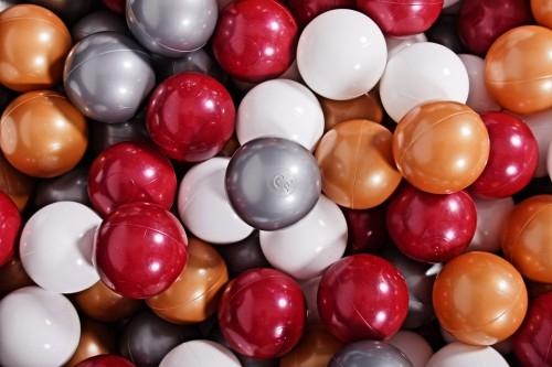 MeowBaby Ballset 150 Bälle 7 cm Set zum selber Gestalten nach Wunsch