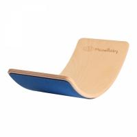 MeowBaby Balance Board blau mit Filz 80x30 cm aus Holz für Kinder, bis 200 kg