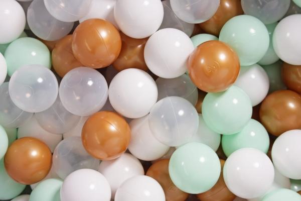 MeowBaby Ballset 200 Bälle 7 cm Set zum selber Gestalten nach Wunsch